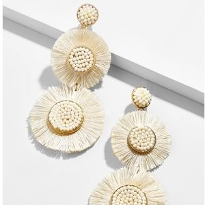 Baublebar Marietta Fringe Drop Earrings-Ivory